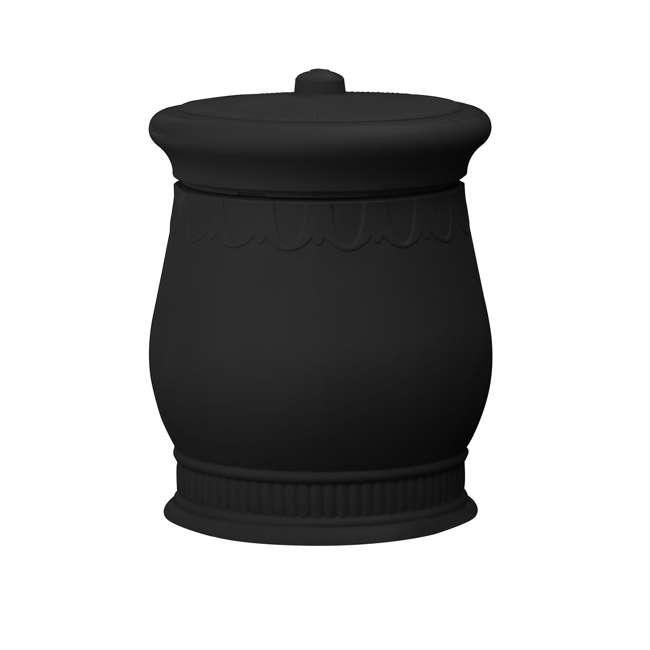 SV-URN-BLK Good Ideas Savannah Decorative 30 Gallon Storage and Waste Basket Urn, Black