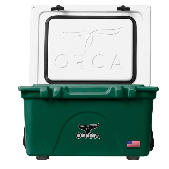 ORCGR/WH026 Orca 26 Quart 24 Can High Performance Roto Molded Insulated Ice Cooler, Green 3