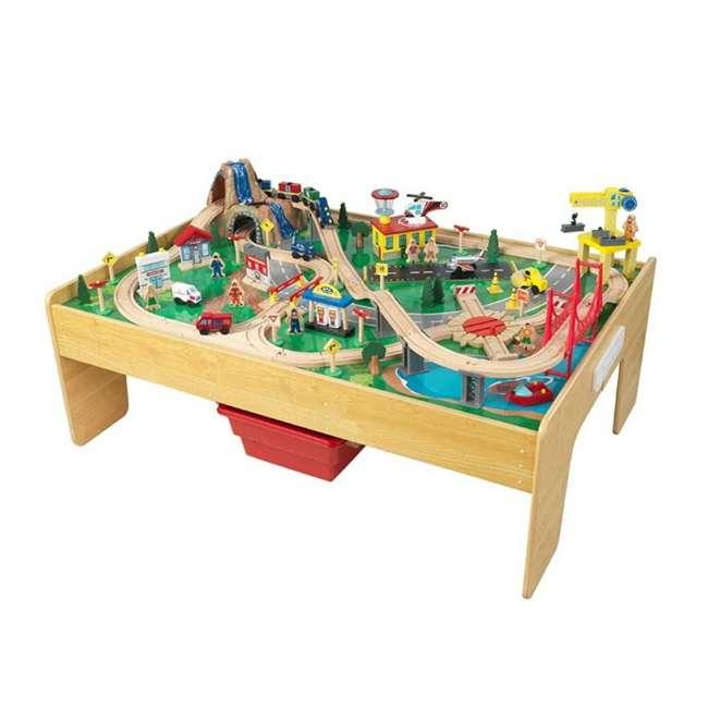 KDK-18025-U-A KidKraft Adventure Town Railway Play Set & Table w/ EZ Kraft Assembly (Open Box)