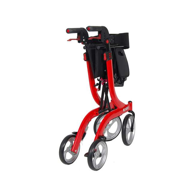 RTL10266-T Drive Medical Nitro Euro Style Tall Height Rollator Walker, Red 3