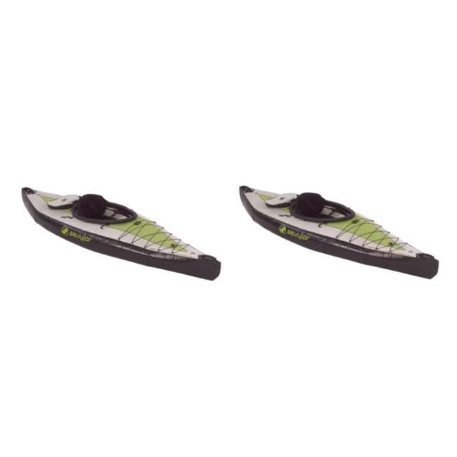 2000003419 Sevylor Pointer K1 Kayak - (2) Inflatable 1 Person Kayak Boats - 3419