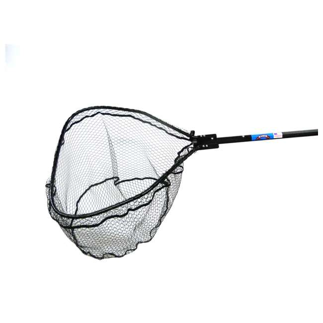 9855TFB Ranger Nets Knotless Flat Bottom Rubber Coated Net with Telescopic Octagon Handle