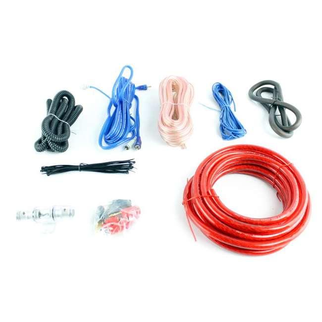 CPBK2 + EPAK4R Boss CAP2CR 2.0 Farad Led Digital Capacitor Cap with 4 Gauge Amp Install Kit 3