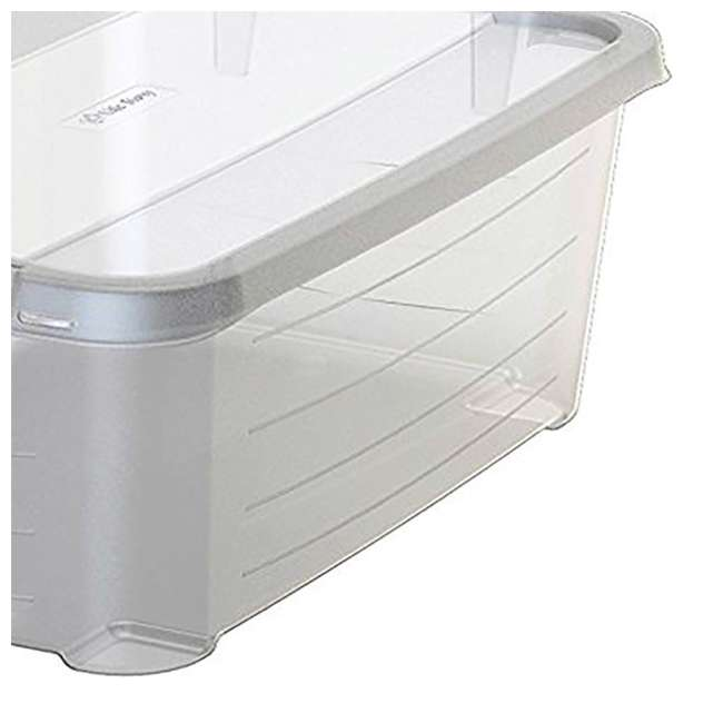 4 x CS-12-U-A Life Story Clear Storage Box, 14-Quart (4 Pack) 2