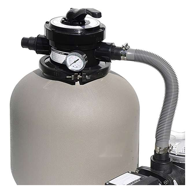 "71405-U-A Swimline 2400 GPH 14"" .5 HP High-Quality Pool Sand Filter Pump Combo (Open Box) 1"