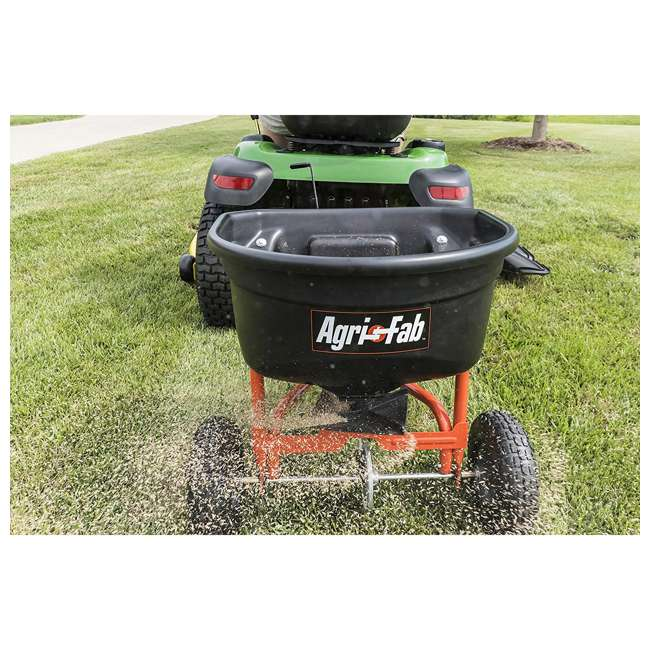 45-0527 Agri-fab 110 Pound Capacity Tow Broadcast Spreader 4