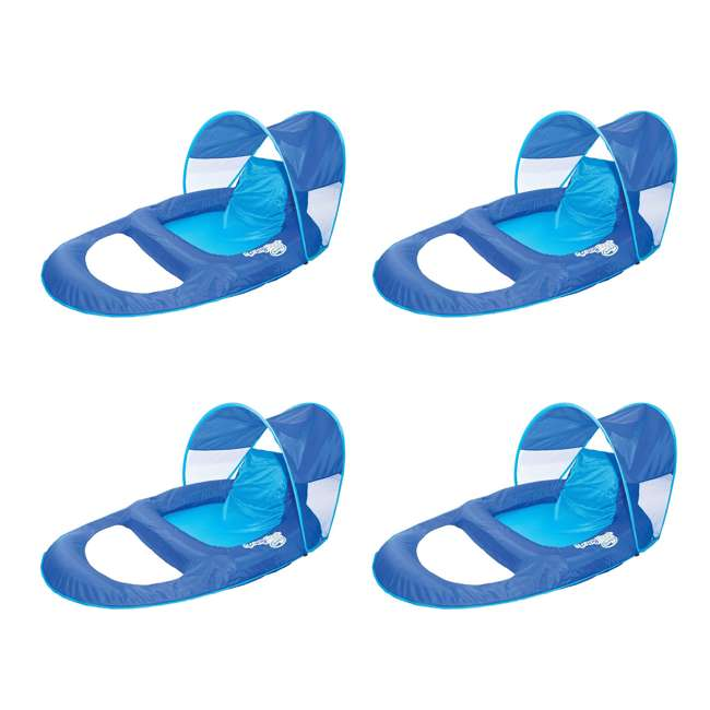4 x 13022 SwimWays Spring Float Recliner with Canopy (4 Pack)