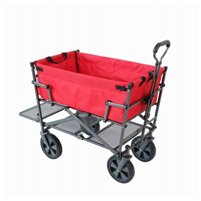 MAC-DD-110-RED Mac Sports Double-Decker Yard Cart Wagon, Red (2 Pack) 1