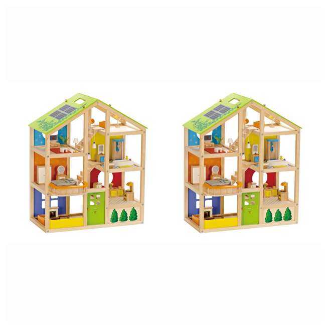 HAP-E3401 Hape All Season House Wooden Dollhouse with Furniture (2 Pack)