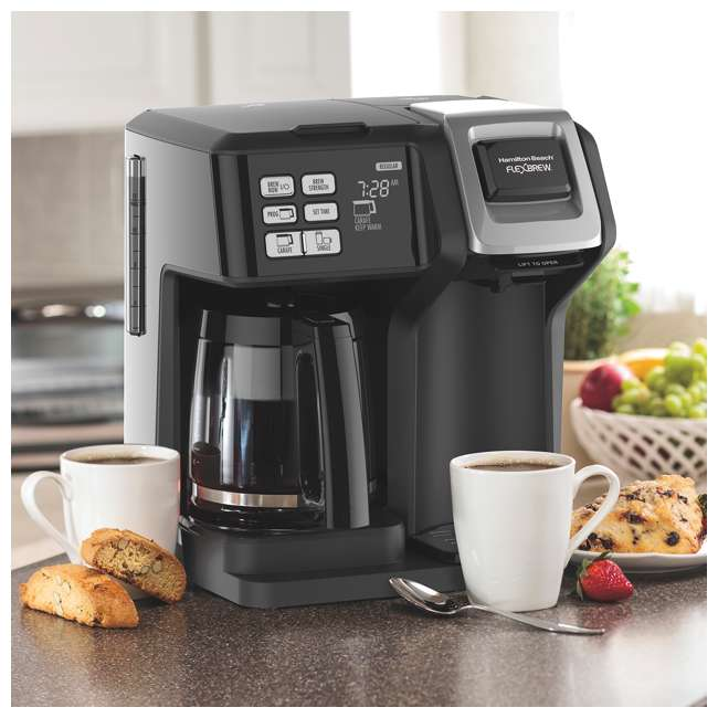 49976 + 80675R Hamilton FlexBrew Programmable Coffee Maker & Permanent Coffee Filter 3