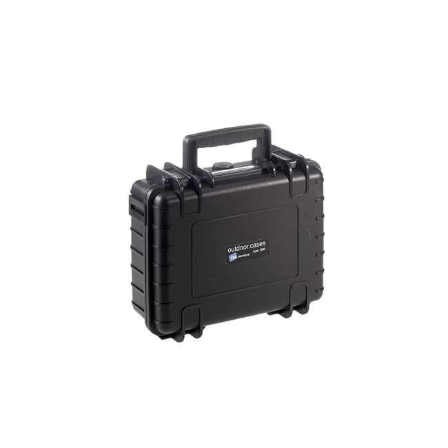 1000/B/SI + CS/500 B&W International 1000/B/SI Plastic Outdoor Case w/ SI Foam & Shoulder Strap 2