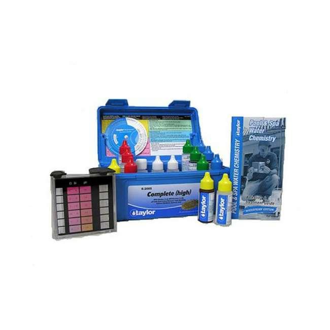 K2005 Taylor Swimming Pool Chlorine Bromine Alkalinity Hardness pH DP Test Kit (2) 2