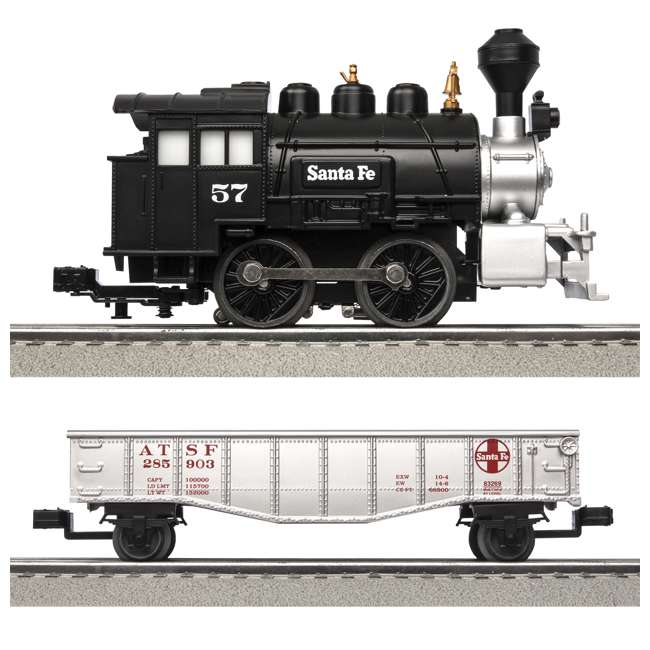 "711850 Lionel Junction Santa Fe Steam Set w/ 4 10"" FasTracks & Lenny the Lion(Open Box) 3"