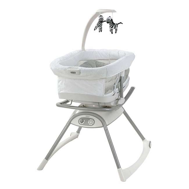2065966 Graco 2065966 Duet Glide LX Baby Infant Gliding Swing and Napper, Zagg Gray