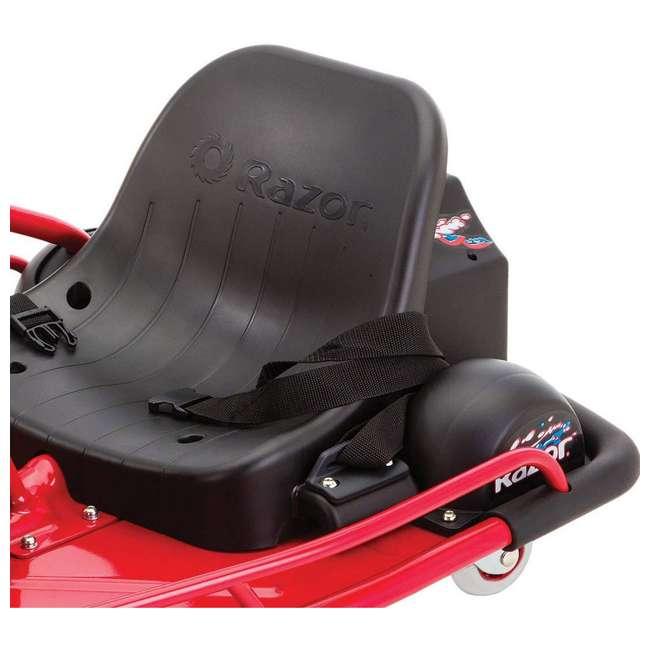 25143499 Razor Crazy Cart Electric 360 Spinning Drifting Ride On Go Cart  4