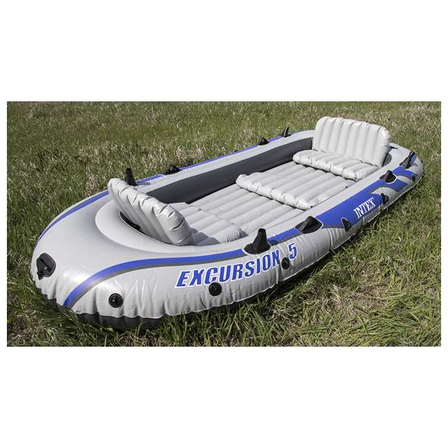 4 x 68325EP INTEX  Excursion 5 Inflatable Rafting/Fishing Dinghy Boat Set |  (Used) (4 Pack) 2