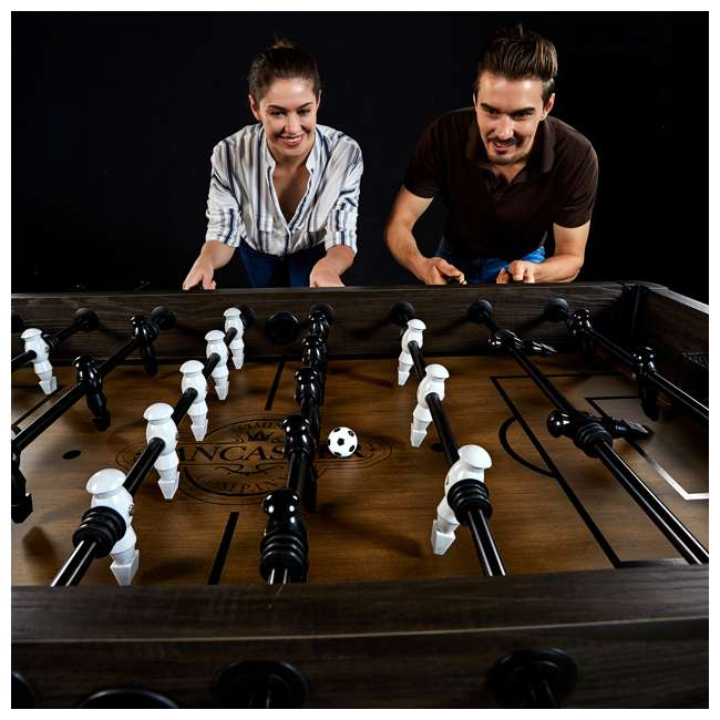 SOC056_188P Lancaster Gaming Company Loxley 56-Inch Traditional Soccer Foosball Table 6