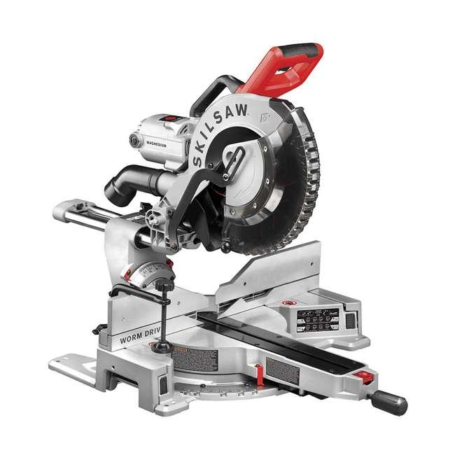 SPT88-01 SKILSAW SPT88-01 12 Inch Blade 15 Amp Worm Drive Dual Bevel Sliding Miter Saw
