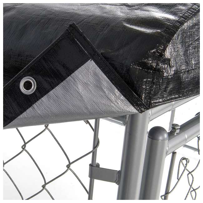 CL-00301 WeatherGuard 5 x 10-Foot Dog Run Kennel Roof Cover (2 Pack) 2