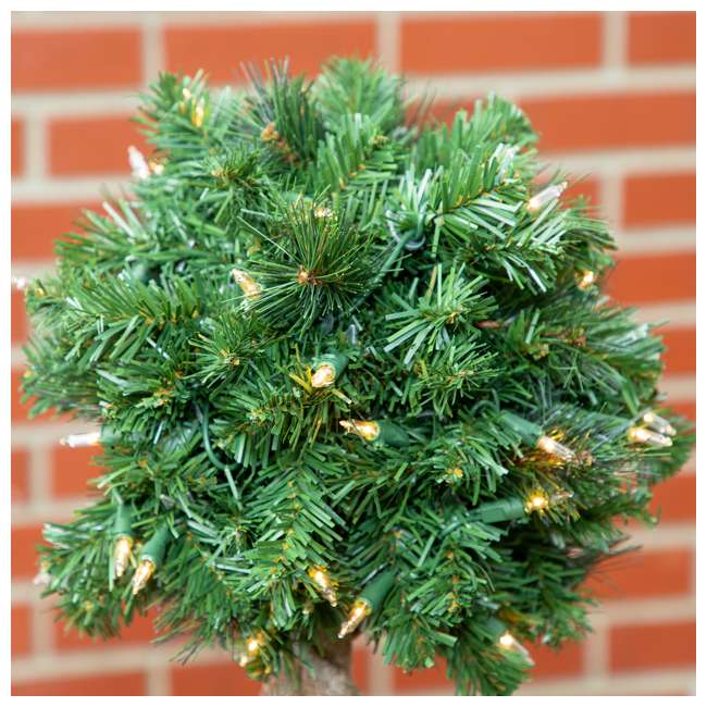 TP40M2W72C09 Home Heritage 4 Foot Artificial Topiary Tree w/ Clear Lights for Entryway Decor 5