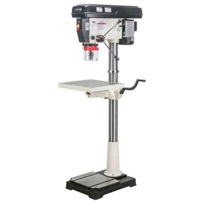 M1039 Shop Fox M1039 20 Inch 1.5 Horsepower Floor Drill Press with Work Light, White