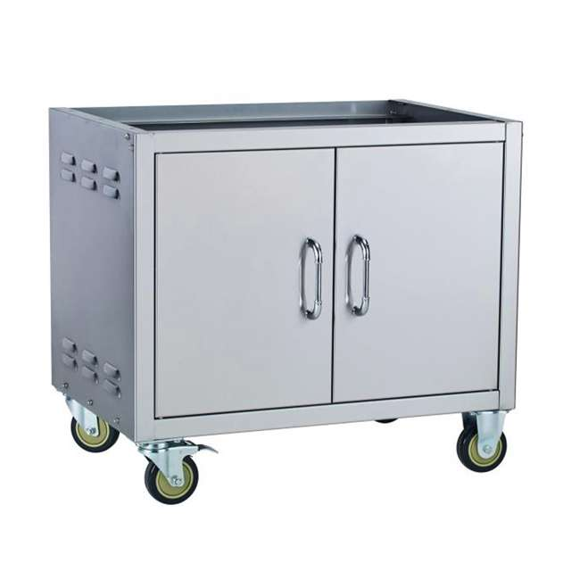 BOP-45551-U-D Bull Outdoor Stainless Steel 30 Inch Cart Bottom for BBQ Grills (Damaged)