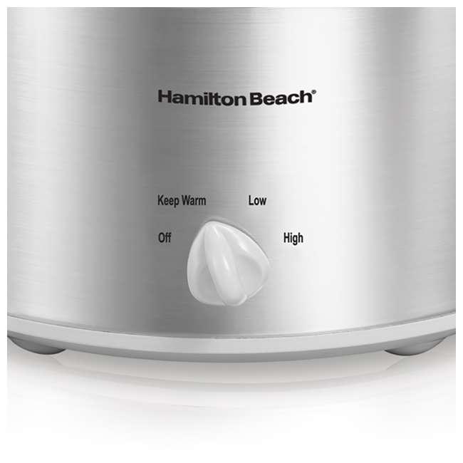 33140V Hamilton Beach 4-Quart Slow Cooker, Silver (2 Pack) 3
