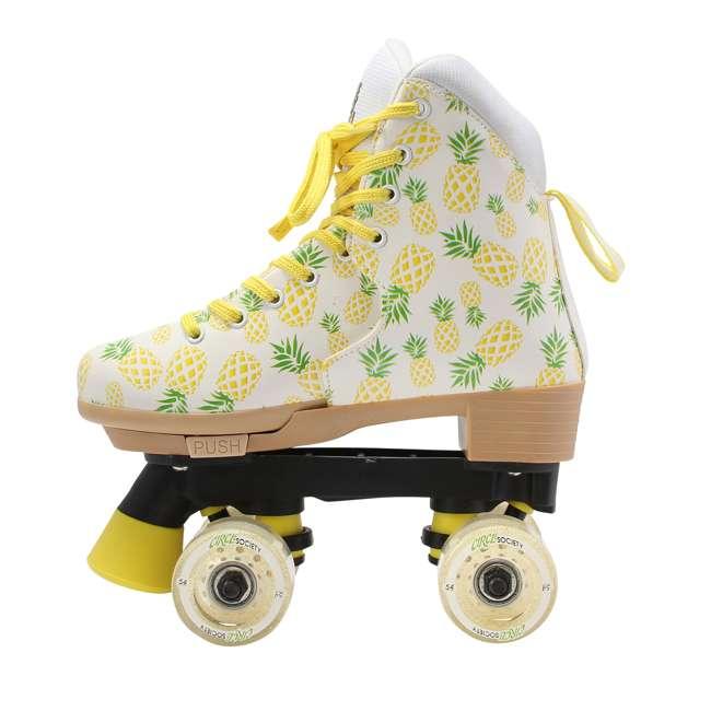 168219 Circle Society Craze Crushed Pineapple Kids Skates, Sizes 3 to 7 3