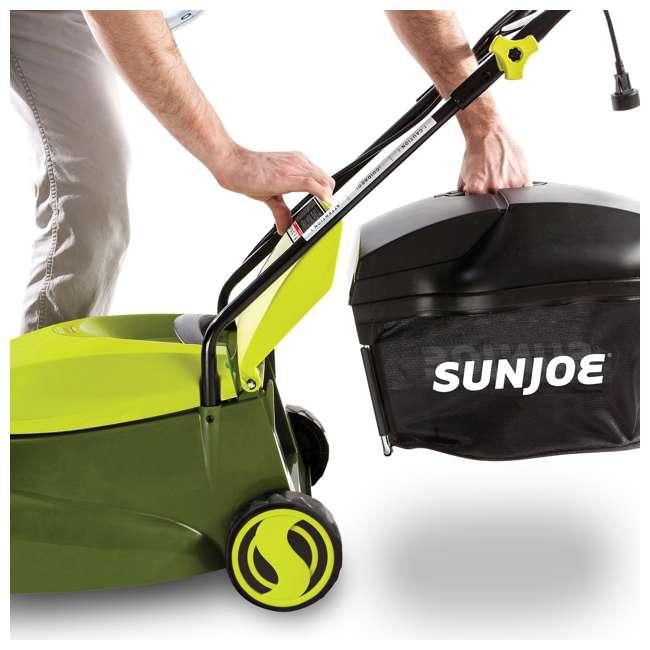 SUJ-MJ401E Sun Joe MJ401E 14 Inch 12 Amp Electric Push Lawn Mower, Green 3