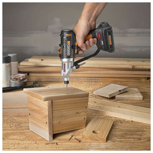 WX176L.9 Worx 20V 2-In-1 Cordless Switchdriver Drill and Driver Tool (Tool Only) 3