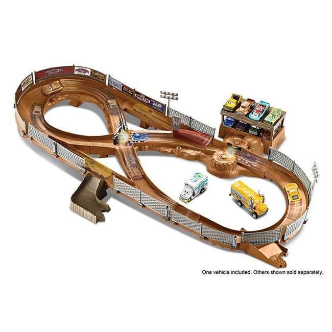 FCW01 Mattel Disney Pixar Cars 3 Thunder Hollow Criss-Cross Track Playset (2 Pack) 4