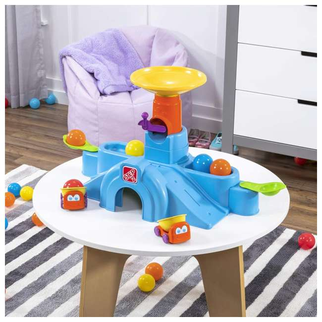497400 Step2 497400 Durable Toddler Ball Buddies Tunnel Tower with 10 Colorful Balls 5