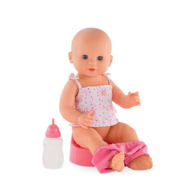 FPK23 Corolle Mon Grand Poupon Drink & Wet Potty Training Emma Doll w/ Jar and Bottle 2