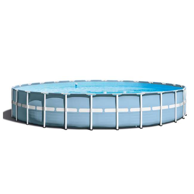 "26761EH + QLC-57620 Intex 24'x 52"" Prism Frame Pool w/ Ladder, Pump, & Winterizing Kit 4"