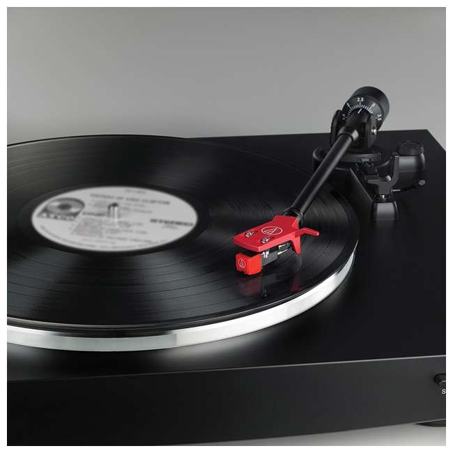 AT-LP3BK-OB Audio Technica LP3BK Automatic Belt-Drive Stereo Turntable Record Player 5