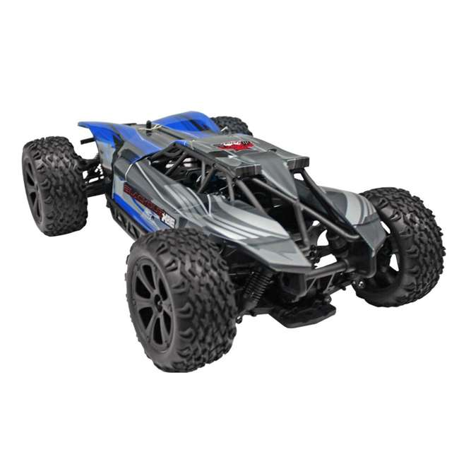 BLACKOUT-XBE-BLUE-U-C Redcat Racing 1/10 Scale Brushed Electric RC Monster Buggy, Blue (For Parts)