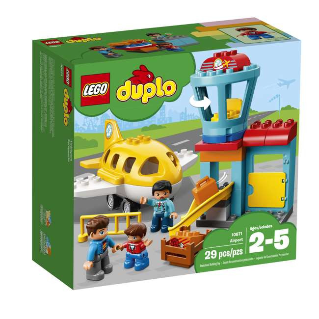 6213743 LEGO DUPLO 29-Piece Town Airport Travel Building Toddler Playset (2 Pack) 2