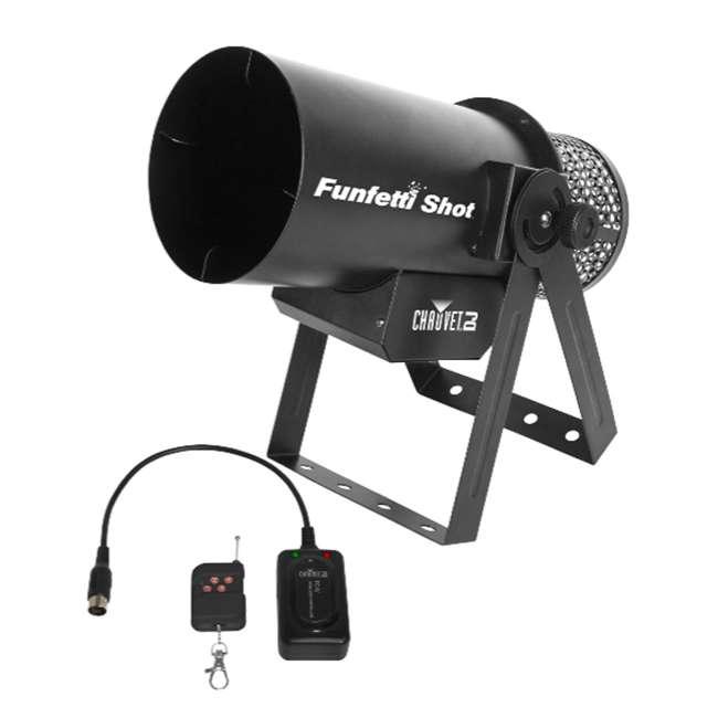 FUNFETTI-SHOT Chauvet DJ Pro Confetti Launcher with Remote (2 Pack) 2