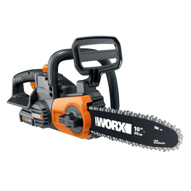 """WG323-U-C Worx 20V 10"""" Auto Tension Electric Pole Chainsaw, Battery & Charger (For Parts) 2"""