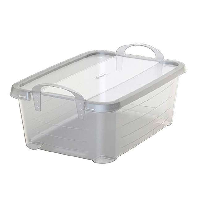 4 x CS-12-U-A Life Story Clear Storage Box, 14-Quart (4 Pack) 3
