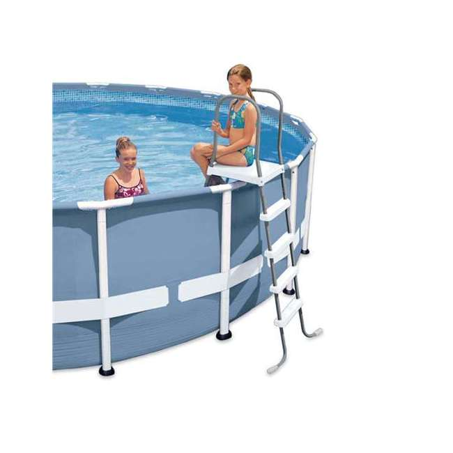 I28067 Intex Above Ground Pool Ladder for 52 Inch Wall Height Pool (Brown Box) 1