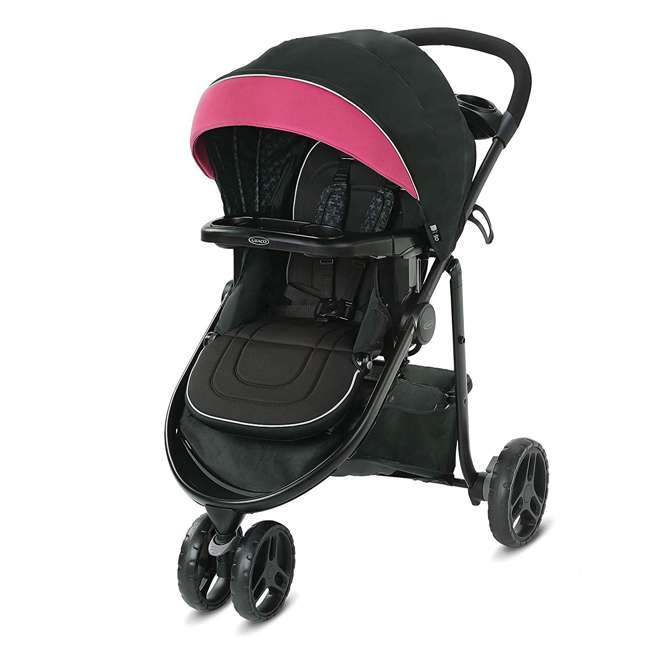 2081084 Graco Modes 3 Lite DLX Baby Stroller & Infant Car Seat Travel System, Arbis Pink 2