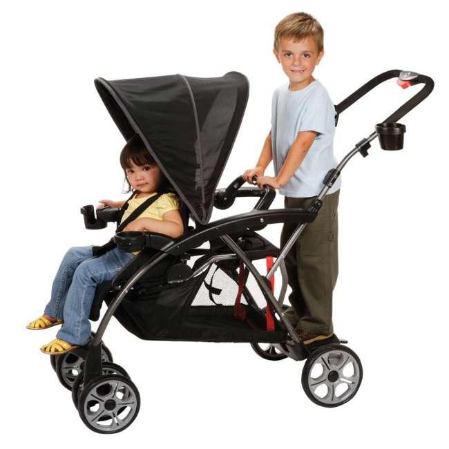CV249BKJ Safety 1st Stand OnBoard Double Baby Stroller - Classic Black   CV249BKJ