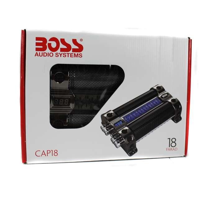 CAP18 BOSS CAP18 18 FARAD Digital Car Audio Capacitor 4