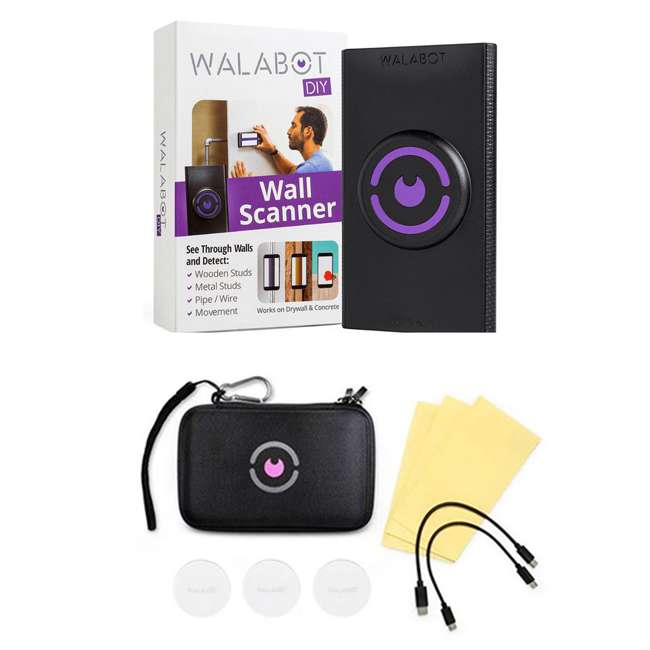 DY20BCGL02 + WALACASE01 Walabot In Wall Imager Stud Finder for Android w/ Storage Case & Accessory Kit