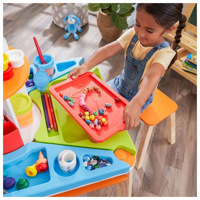 10091 Kidcraft 10091 Ultimate Creation Station Kids Activity Art Table with Two Stools 3