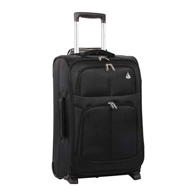 AERO9611 BLACK FBA Aerolite Maximum Allowance Heavy Duty Airline Approved Carryon Suitcase, Black