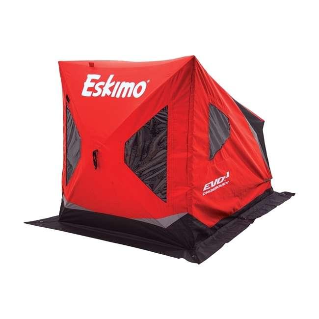 ESK-22100 Eskimo ESK-22100 Evo Crossover 1-Person Flip-Style Ice Fishing Tent Shelter, Red