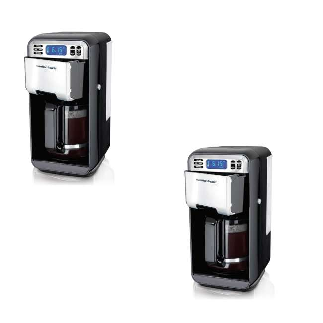 46205  Hamilton Beach 12 Cup Digital Automatic LCD Programmable Coffee Maker (2 Pack)