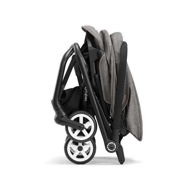 518001259  Cybex Eezy S Twist Travel System Baby and Toddler Stroller w/ Sun Canopy, Black 5